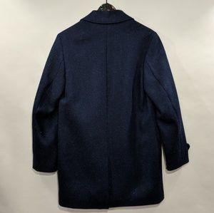 ERDEM Jackets & Coats - Erdem x H&M Navy Blue Wool Coat